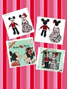 Disney Mickey And Minnie Mouse Limited Edition Valentines Day Doll Set In Hand