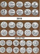 2018 2019 2020 2021 Park Quarters P And D Sets 32 Coins In Stock