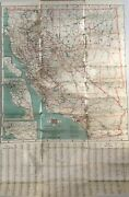 Highway Map Of California And Nevada / 1915
