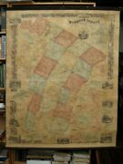 Map Of Windsor County Vermont From Actual Surveys By Hosea Doton / 1st Ed 1855
