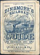 Railroads / Dinsmoreand039s Railroad And Steam Navigation For The United States 1860