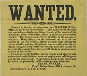 Wanted / Wanted To Hire By The Subscriber Two Master Mill- / Men To Go Signed