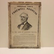 Broadside / General Lee's / Farewell Address / To The Army Of Northern Virgina