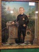 Oscar Robert / Portrait Of Boy With The U.s Capitol Building In Background Title