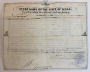 Land Grant / In The Name Of The State Of Texas / To All To Whom These Presents