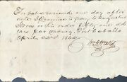 Republic Of Texas / Promissory Note In Manuscript From Wm H Watts To Augustus