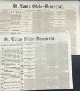 Custer / St Louis Globe-democrat Reports On The Annihilation Of General George
