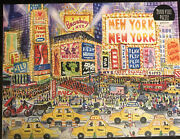The Great White Way Michael Storrings 2000 Pcs Galison Puzzle New York W/poster+
