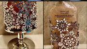 New Bath And Body Works Jeweled Snowflake Candle And Soap Holder Silver Set