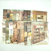 Woodsmith Magazine Lot Of 18 Issues 125-143 Woodworking 1999-2002