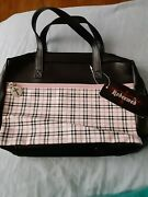 Redeemed Designs Bible Cover Case Carrier Pink Plaid With 2 Pockets New