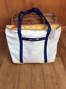 Large Sailcloth Crossed Oars Tote 64.95 Made In Usa