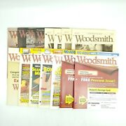 Woodsmith Magazine Lot Of 15 Issues 66-217 Woodworking 1989-2015 Guild Issue
