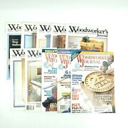 Woodworkers Journal Magazine Lot Of 10 - 1987-2001 Wood, Tools, Saws, Routers