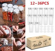 1236x Glass Clip Seal Spice Jars Airtight Container Kitchen Storage Herbs Food.
