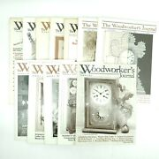 Woodworkers Journal Magazine Lot Of 12 - 1984-1986 Wood, Tools, Saws, Routers