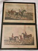 1824 Henry Alken Thomas Sutherland Fox Hunting Sketches Plates I And Iv