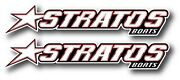 2x Stratos Boats Decal Sticker Us Made Fishing Bass Truck Vehicle Car Window