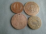 Old Coin Lots World/foreign Coins 1862/1919/1927/1958 4 Coin Collectibles