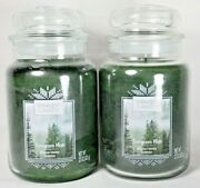 New Yankee Candle Holiday Evergreen Mist Large Jar 22 Oz. Candle - Lot Of 2
