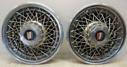 Two 2 1986 - 1995 Buick Century 15 16 Cross Wire Spoke Wheel Cover Hubcaps