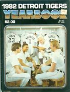 1982 Detroit Tigers Yearbook Baseball Trammell, Whitaker, Gibson And Morris