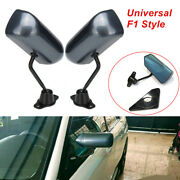 F1 Style Carbon Fiber Surface Side Mirror With Screws Cafe Racer Retro Universal