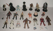 Vintage Star Wars Action Figure And Toy Lot With 3 Mini Vehicles Kenner Hasbro