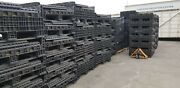 Lot 10 Orbis Ropak Collapsible Container Pallet Bins 47h X 46 X 39
