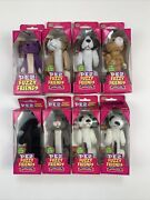 8 Vintage Pez Cat Furry Friends Cat And Dog Series - New In Box 1 Double Set