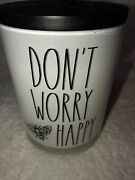 Rae Dunn Cannabis Rose Candle Don't Worry Bee Happy Scented Jar 16 Oz New