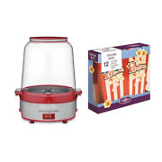 Cuisinart Cpm-700 Easypop Popcorn Maker Red With 12 Popcorn Boxes