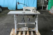 Brother Industrial Sewing Machine Db2-b791-015a W/ Table And Foot Pedal 220v