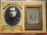 Albert I King Of Belgium 2020 Goodwin Champions Heads Of State Stamp Relic Sp