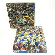 Lot Of 2 Vintage Springbok 500 Pc Jigsaw Puzzles Marbles And Snakes 100 Complete