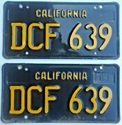 1963 Thru 1969 California License Plates - Old Original Pair - Number Is Clear