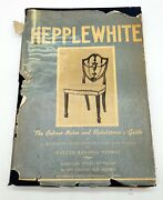 Thriftchi 1942 Hepplewhite Hc Book 18th Century Furniture Sketches Signed
