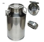 15.8 Gallon Stainless Steel Milk Pail For Beer Maple Syrup Wine Milk 9.8 Mouth