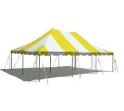 20x30and039 Pole Tent Event Party Premium Canopy Yellow White Block Out Vinyl Top