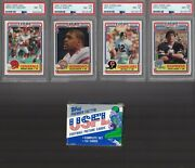 1984 Topps Usfl Football Complete Set 1-132 Nm-mt Young Kelly Rc White Psa 9