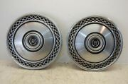 Two 2 1977 - 1989 Mercury Cougar Crown Victoria 15 Wheel Covers Hubcaps