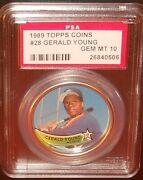 Psa 10 Gem Mint 10 - Gerald Young 1989 Topps Coins Card Houston Astros