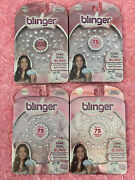 Lot Of 4- Blinger Brilliance Sparkle Collection Refill Pack New Hair Jewels