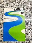 Yamaha Riders De-lux Manual Ym2c 305 Owners Sports Twin 1966-1968 High Pipes