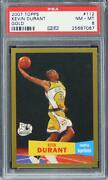 2007 Topps Kevin Durant Gold /2007 Future Hof Rookie Rc 112 Psa 8 Nm-mt
