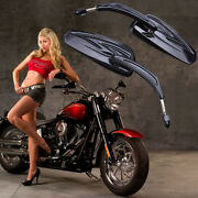 Motorcycle Rearview Mirrors For Harley Davidson Fatboy Street Glide Road King