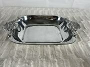 Beautiful Fabulous Pewter Ware Pewter Serving Bowl With Handles