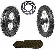 Front And Rear Tires 60/100-14 80/100-12 Tire Wheel Combo For Pit Bike 125cc 140cc