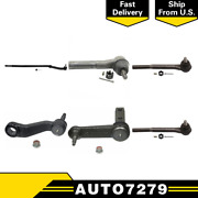6pc Inner Outer Left Right Pitmanandidler Arm Tie Rods End For 00-02 Ram 3500rwd