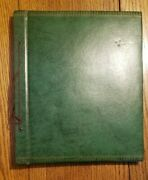 Vintage 1940/50's Greeting Card Scrapbook 14.5 X 12 38 Pages String Binding